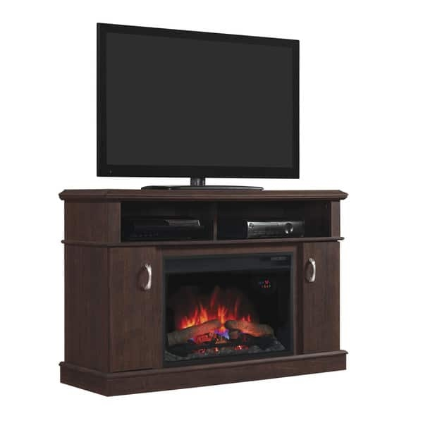 Amazing Best Dwell TV Stands Inside Dwell Tv Stand With 26 Inch Electric Fireplace Midnight Cherry (Image 1 of 50)