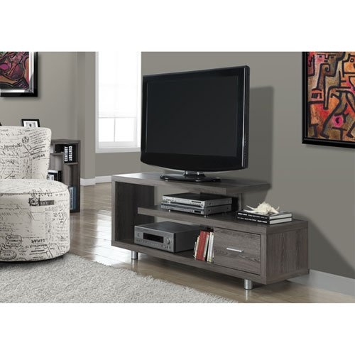 Amazing Best L Shaped TV Stands Pertaining To Amazon Monarch Specialties I 2573 White With 1 Drawer Tv (Image 1 of 50)