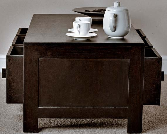 Amazing Best Large Coffee Tables With Storage In Dark Wood Coffee Table (Image 1 of 50)