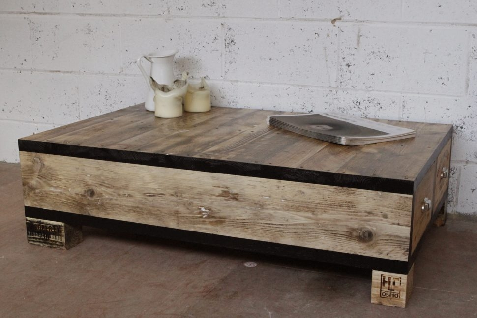 Amazing Best Low Coffee Tables With Drawers With Regard To Furniture Home Old And Vintage Diy Square Low Wood Coffe Table (Image 2 of 50)
