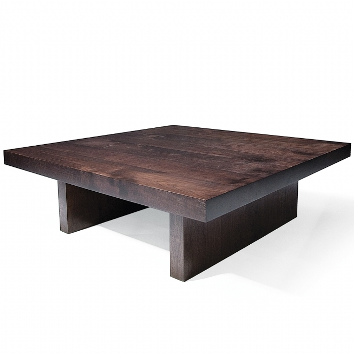 Amazing Best Square Dark Wood Coffee Table Inside Coffee Table Breathtaking Square Wood Coffee Table Ideas Square (Image 1 of 40)