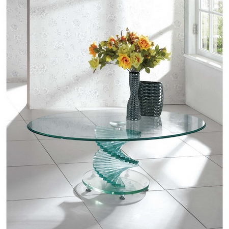 Amazing Best Swirl Glass Coffee Tables With Regard To Swirl Glass Coffee Table (Image 1 of 50)