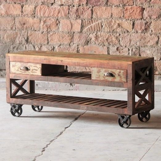 Featured Image of Wooden TV Stands With Wheels