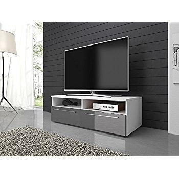 Amazing Brand New 100cm TV Stands Throughout Alphason Chromium Grey Tv Stand For Up To 50 Inch Tvs Amazonco (Image 1 of 50)