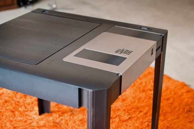 Amazing Brand New Corner Coffee Tables In Unique And Elegant Coffee Table In Giant Floppy Disk Figure (View 39 of 50)