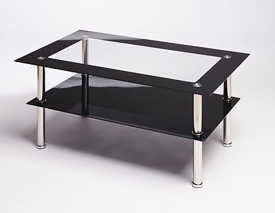 Amazing Brand New Dark Glass Coffee Tables With Rectangular Glass Coffee Table (Image 1 of 50)