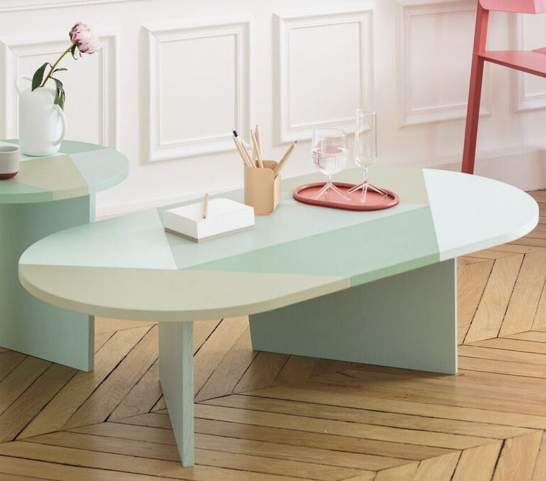 Amazing Brand New Elise Coffee Tables Within Contemporary Coffee Table Lacquered Wood Mdf Oval Elise (Image 1 of 40)