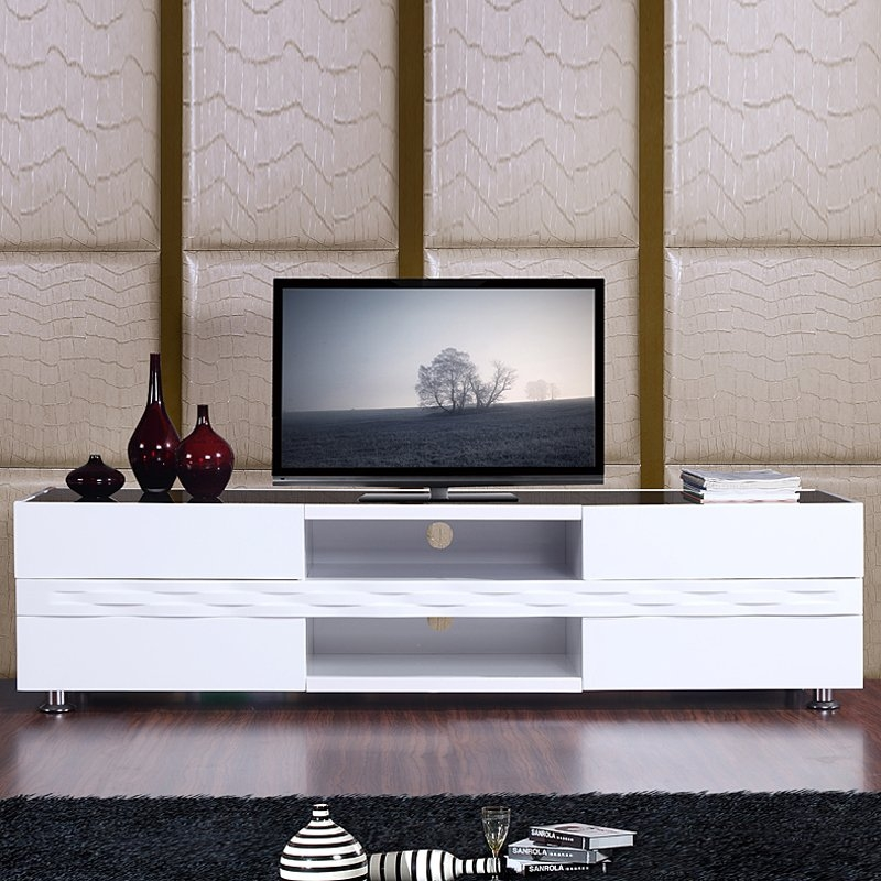 Amazing Brand New Gloss White TV Stands In Publisher Tv Stand High Gloss White Tv Stands (Image 1 of 50)