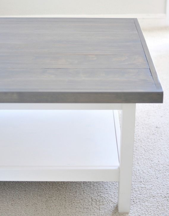 Amazing Brand New Gray Wood Coffee Tables Intended For Best 25 Grey Stained Wood Table Ideas On Pinterest Grey House (Image 1 of 50)