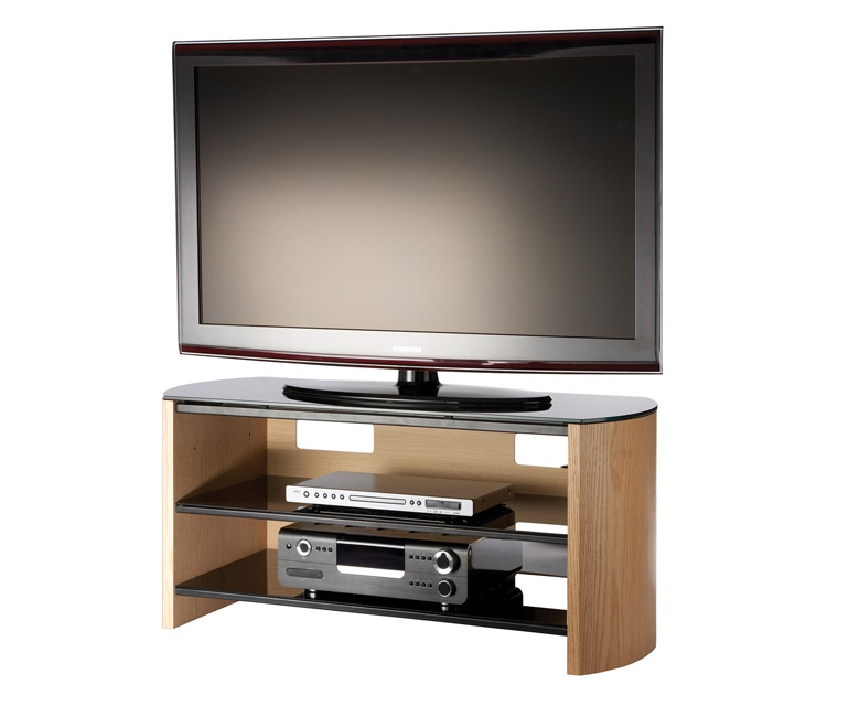 Amazing Brand New Light Oak TV Stands Flat Screen With Regard To Alphason Finewoods Fw1100 Light Oak Tv Stand Alphason (Image 1 of 50)