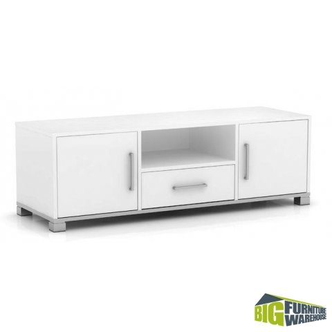 Amazing Brand New Long White TV Cabinets For Sorrento White Tv Cabinet Big Furniture Warehouse (Image 1 of 50)