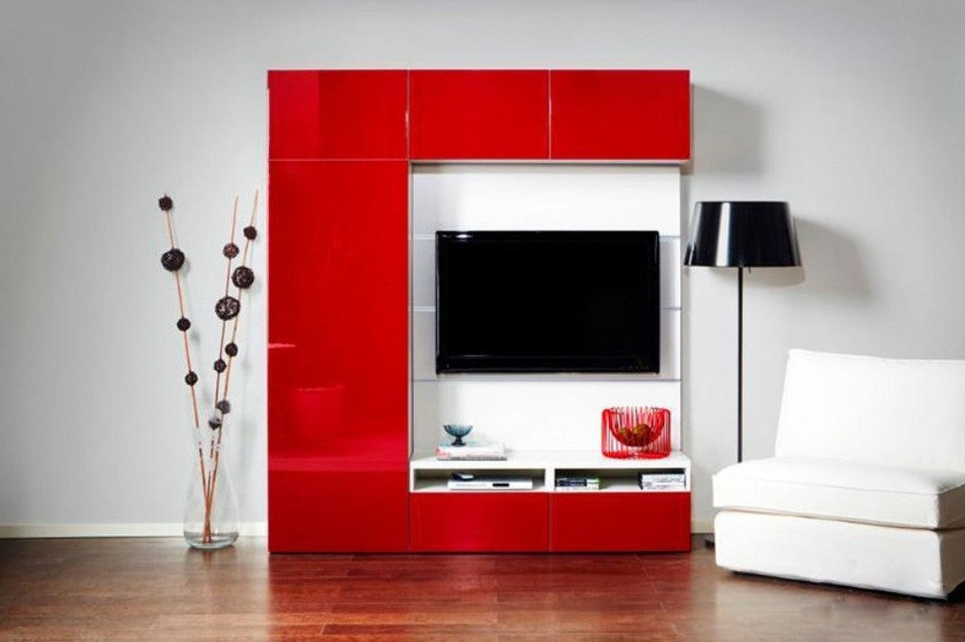Amazing Brand New Red TV Cabinets Pertaining To Tv Cabinet Interior Design Part  (Image 1 of 50)
