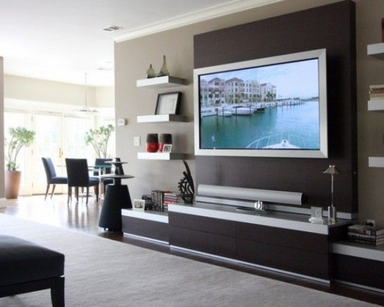 Amazing Brand New TV Stand Wall Units With 32 Stylish Modern Wall Units For Effective Storage Digsdigs (Image 2 of 50)