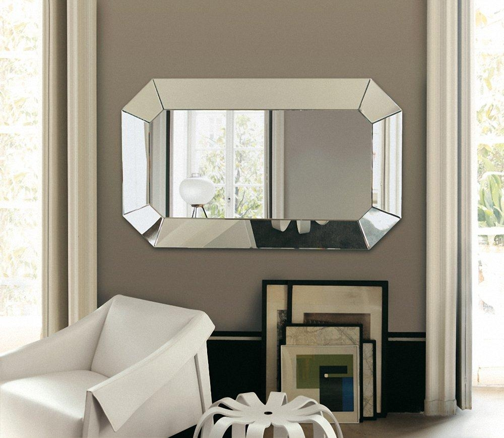 Amazing Chic Large Wall Mirrors For Living Room Modern Ideas Large Pertaining To Big Modern Mirrors (Image 4 of 20)