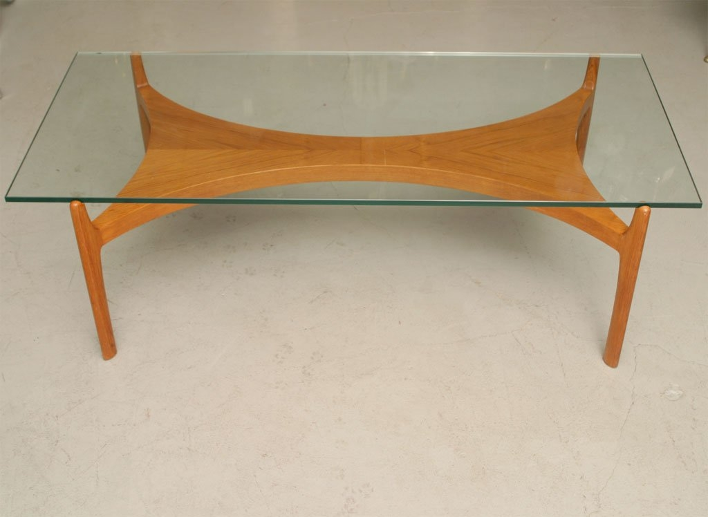 Amazing Common Beech Coffee Tables Inside Mid Century Beech Coffee Table With Glass Top At 1stdibs (Image 2 of 50)