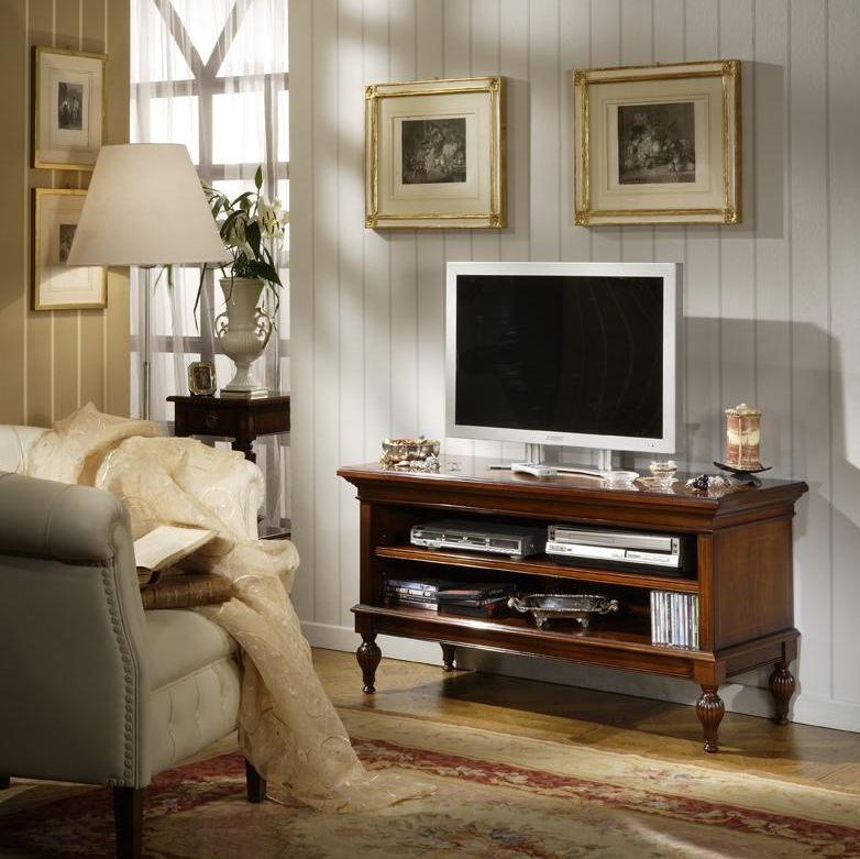 Amazing Common Classic TV Cabinets With Regard To Classic Tv Cabinet Walnut 623x Salca Asiago (Image 2 of 50)