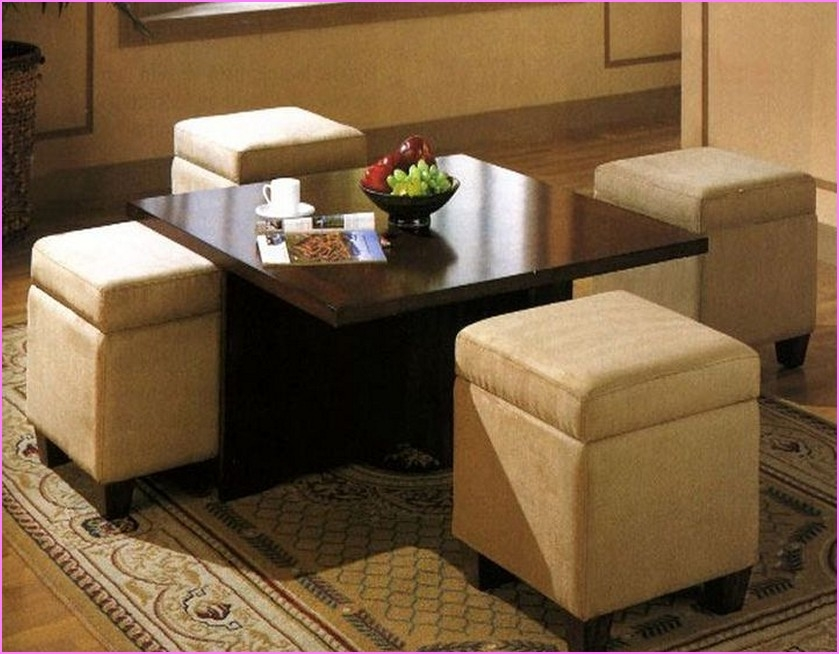 Amazing Common Coffee Tables With Seating And Storage Throughout Coffee Table With Storage Ottomans Underneath (Image 1 of 50)