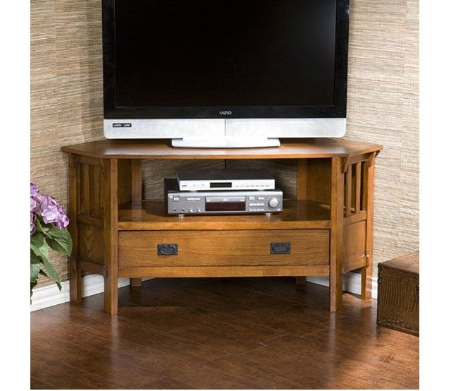 Amazing Common Dark Brown Corner TV Stands Within Best 25 Oak Corner Tv Stand Ideas On Pinterest Corner Tv (View 37 of 50)
