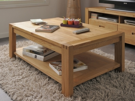Amazing Common Large Low Oak Coffee Tables Intended For Coffee Table With Shelf (Image 2 of 50)
