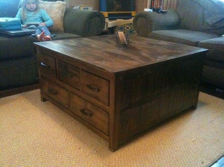 Amazing Common Large Square Wood Coffee Tables In Large Coffee Table With Drawers Google Search Pinteres (Image 2 of 50)