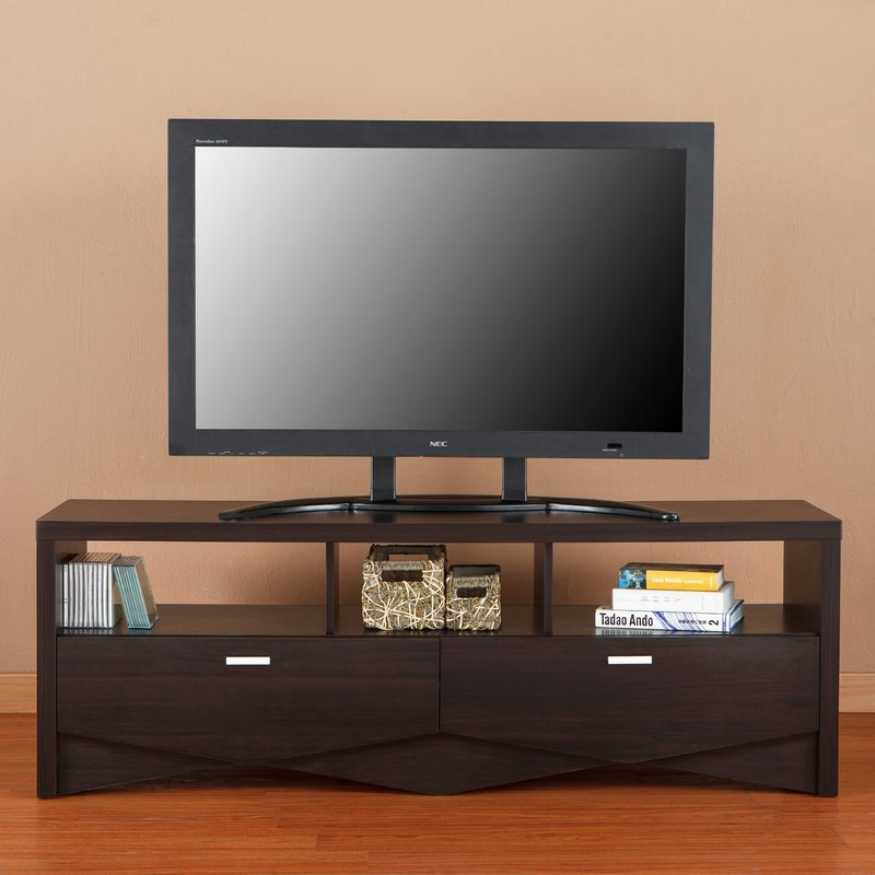 Amazing Common Mahogany TV Stands Furniture Within Espresso Tv Stands Youll  Love Wayfair (Image 1