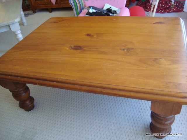 Amazing Common Old Pine Coffee Tables With Regard To Restyled Vintage Tutorial How To Turn Your Honeyed Pine (Image 2 of 50)