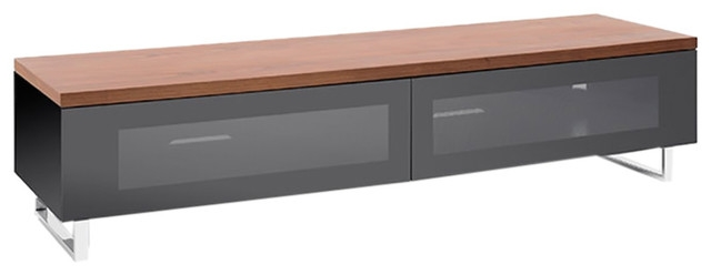 Amazing Common Panorama TV Stands Intended For Panorama Tv Stand Black Base With Top Panel And Chrome Feet For  (Image 2 of 50)