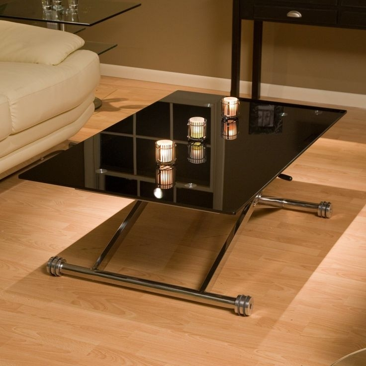 Amazing Common Retro Glass Coffee Tables Within Best 25 Black Glass Coffee Table Ideas That You Will Like On (Image 2 of 50)