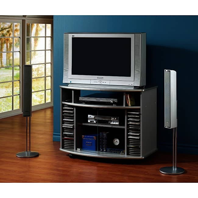 Amazing Common Silver Corner TV Stands In Silver Corner Tv Stand With Glass Doors Free Shipping Today (Image 3 of 50)