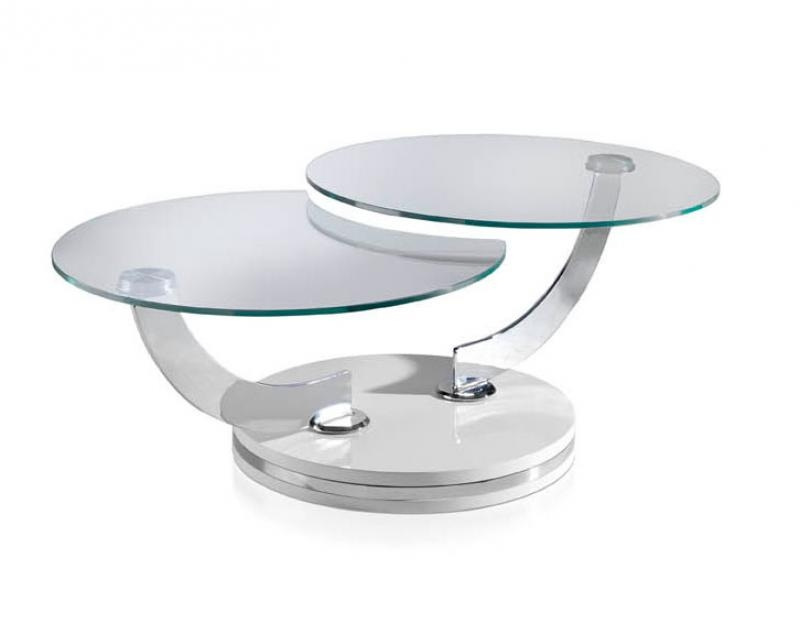Amazing Common Swivel Coffee Tables Regarding Modern Round Glass Coffee Table Table And Estate (View 17 of 50)