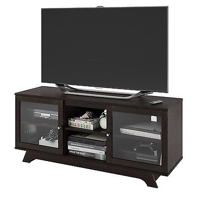 Amazing Common TV Stand Wall Units Within Wooden Tv Stand Media Storage Wall Unit Shelves Glass Home Theater (Image 3 of 50)