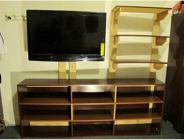 Amazing Common TV Stands With Bookcases Regarding 50 Creative Diy Tv Stand Ideas For Your Room Interior Diy (Image 1 of 50)