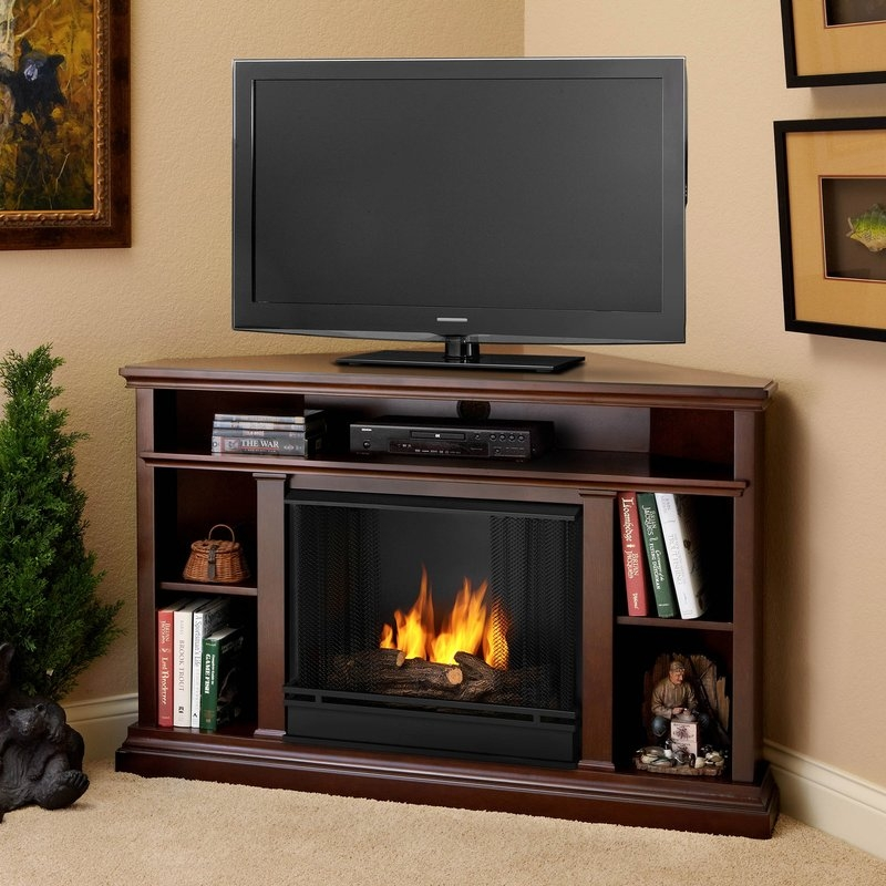Amazing Common Wayfair Corner TV Stands In Real Flame Churchill 51 Tv Stand With Fireplace Reviews Wayfair (View 20 of 50)