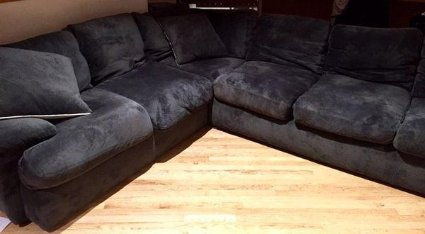 Amazing Deal** Bradley Sectional Sofa – 3 Piece W/ 4 Pillows For Bradley Sectional Sofas (Image 4 of 20)