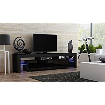 Amazing Deluxe Black TV Cabinets For Amazon Furniture Of America Glenn Contemporary Tv Console (Image 2 of 50)