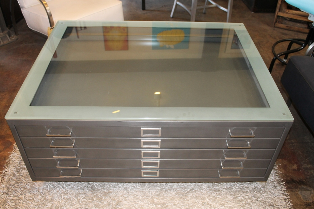 Amazing Deluxe Coffee Tables With Glass Top Display Drawer Inside Glass Top Display Coffee Table (Image 2 of 40)