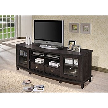 Amazing Deluxe Dark Wood TV Cabinets Intended For Amazon We Furniture 70 Espresso Wood Tv Stand Console (Image 2 of 50)
