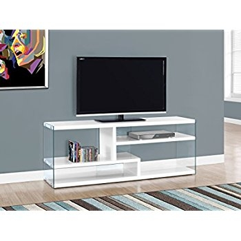 Amazing Deluxe Glossy White TV Stands Regarding Amazon Coaster Home Furnishings 700824 Contemporary Tv (Image 1 of 50)