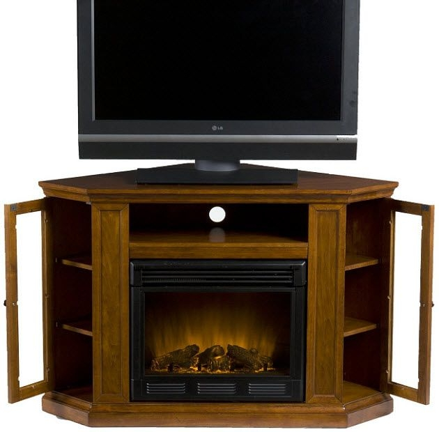 Amazing Deluxe Mahogany Corner TV Stands Pertaining To 24 Best Tv Standelectric Fireplace Images On Pinterest Electric (Image 2 of 50)