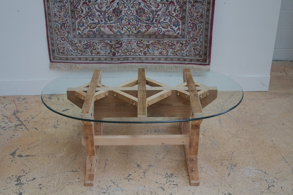 Amazing Deluxe Oval Glass And Wood Coffee Tables For Coffee Tables Ken Marini (Image 1 of 50)