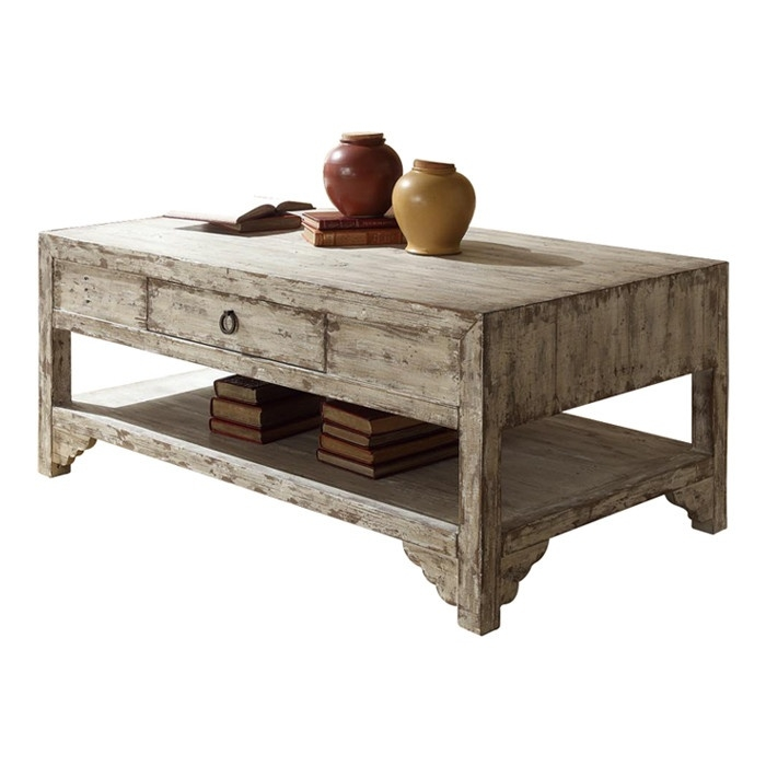 Amazing Deluxe Rustic Coffee Tables With Bottom Shelf Pertaining To 26 Best Distressed Coffee Table Images On Pinterest Distressed (Image 2 of 50)