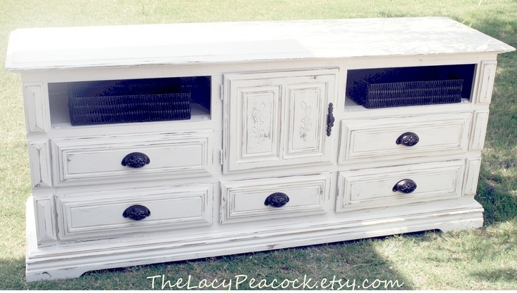 Amazing Deluxe Rustic White TV Stands With White Tv Dresser Bestdressers  (Image 1 of 50)