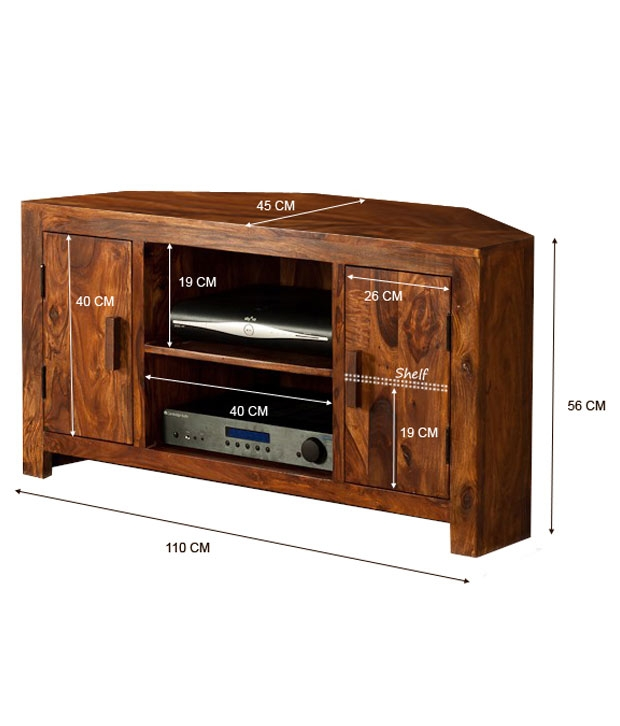 Amazing Deluxe Sheesham TV Stands Regarding Lifeestyle Handcrafted Sheesham Wood Tv Stand Buy Lifeestyle (View 39 of 50)