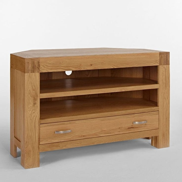 Amazing Deluxe Solid Oak Corner TV Cabinets Throughout Best 25 Corner Tv Unit Ideas On Pinterest Corner Tv Tv In (View 16 of 50)
