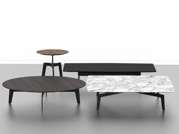 Amazing Deluxe Tribeca Coffee Tables With Tribeca Tables 3d Model Poliform (View 2 of 50)