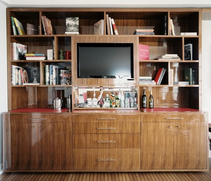 Amazing Deluxe TV Stands Bookshelf Combo With Furniture Home 3 Glass Shelf Tv Stand Bookcases Tv Stand (Image 4 of 50)