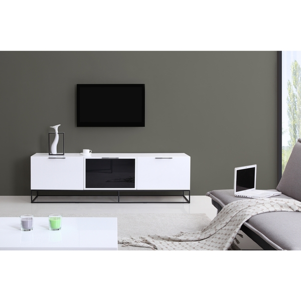 Amazing Deluxe White And Black TV Stands Within Tv Stands Stunning Highboy Tv Stand White Design Collection (Image 2 of 50)