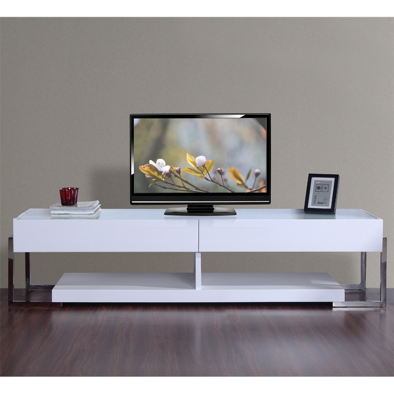 Amazing Deluxe White Glass TV Stands Throughout Tv Stands 2017 Catalog Corner Tv Stand Target Glamorous Corner (Image 1 of 50)