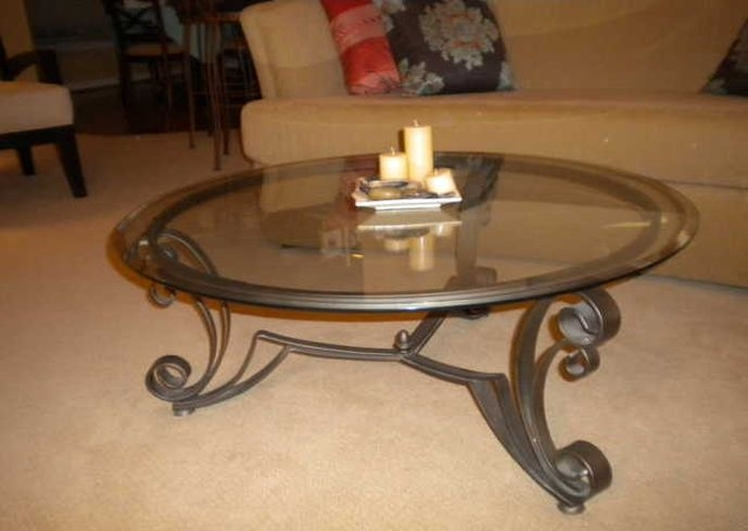Amazing Deluxe Wrought Iron Coffee Tables With Wrought Iron Glass Coffee Table (Image 2 of 50)