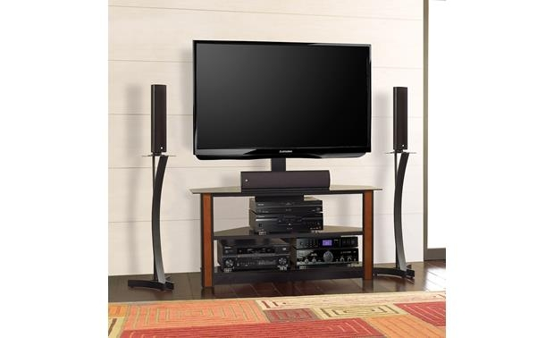 Amazing Elite Bell'O Triple Play TV Stands Inside Bello Tpc 2128 Triple Play Audiovideo Stand For Tvs Up To  (Image 1 of 50)